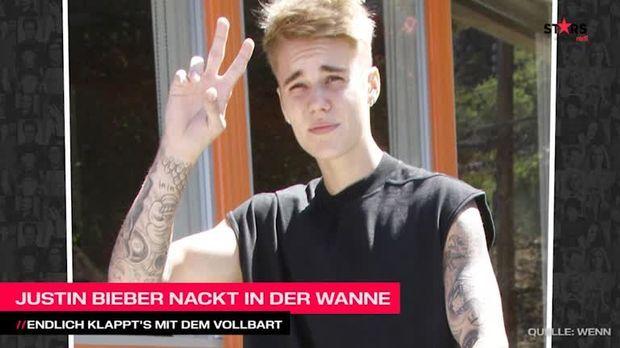 Stars Video Justin Bieber Nackt Und Mit Vollbart In Der