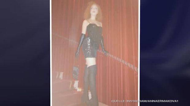 Stiefeln Im Mini Gewagtes Ermakova17Zeigt OutfitAnna Kleid Overknee Sich Und 5R34AqjL
