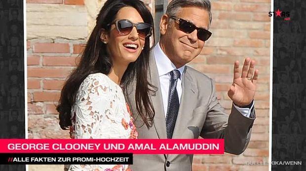 George Clooney und Amal Alamuddin: Alle Facts zur Promi-Hochzeit