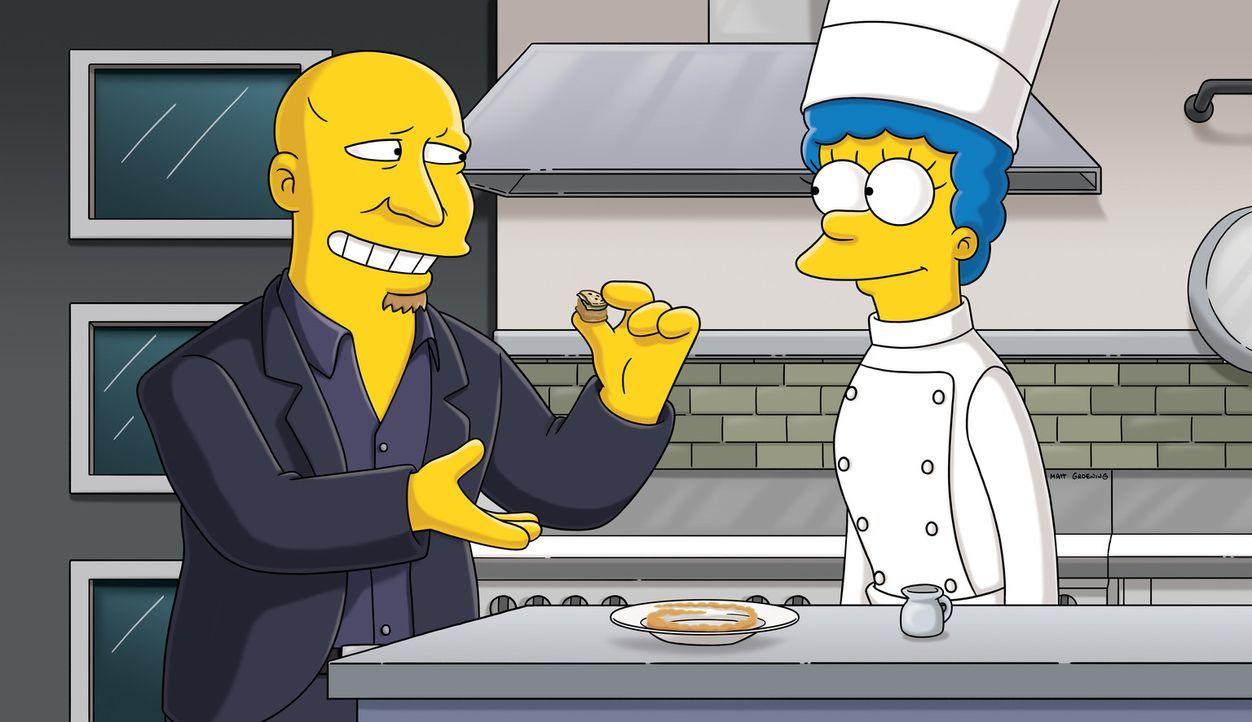 Marge (r.) träumt von einem Zusammentreffen mit Tom Colicchio (l.). Doch wird das je stattfinden? - Bildquelle: und TM Twentieth Century Fox Film Corporation - Alle Rechte vorbehalten