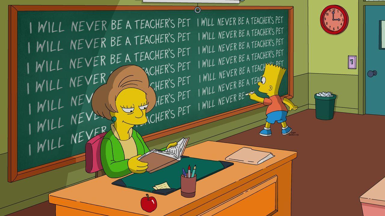 Mrs. Krabappel (l.); Bart (r.) - Bildquelle: 2021 by Twentieth Century Fox Film Corporation.