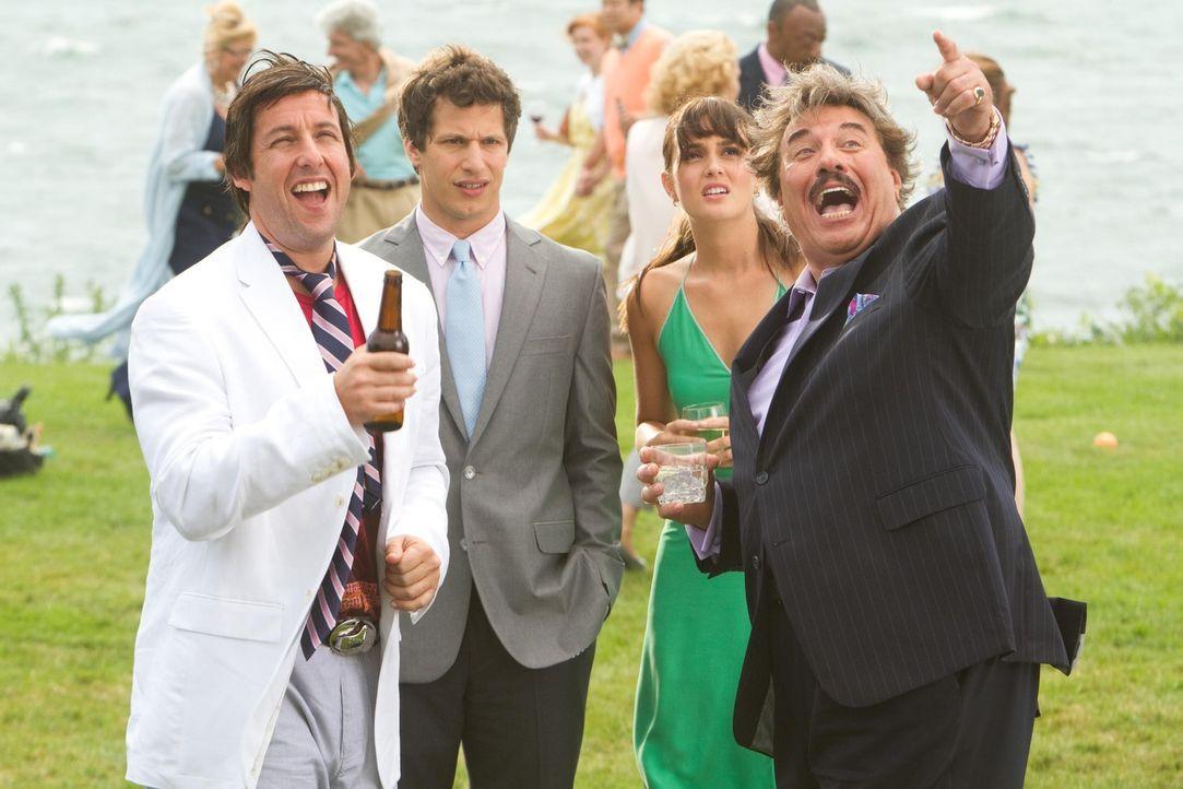 Das Leben ist eine große Party - finden jedenfalls Todds witziger Vater Donny (Adam Sandler, l.) und sein Chef Steve (Tony Orlando, r.). Geschäftsma... - Bildquelle: 2012 Columbia Pictures Industries, Inc. All Rights Reserved.