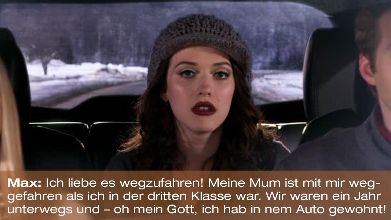 2-broke-girls-zitat-quote-staffel2-episode13-wochenende-max-auto-warnerpng 1600 x 900 - Bildquelle: Warner Bros. Television