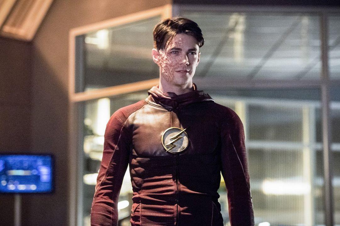 Wird Zukunfts-Barry alias Savitar (Grant Gustin) Iris wirklich umbringen? - Bildquelle: 2016 Warner Bros.