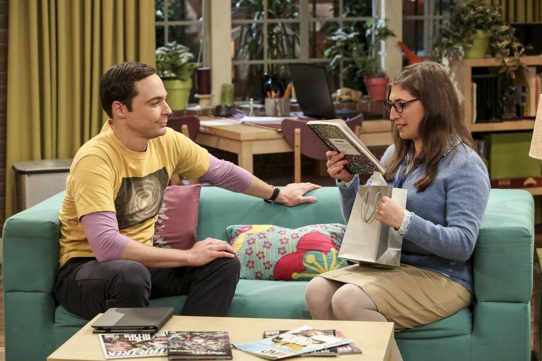 Springt für Amy (Mayim Bialik, r.) aus Sheldons (Jim Parsons, l.) Eifersucht doch noch etwas Gutes heraus? - Bildquelle: Warner Bros. Television