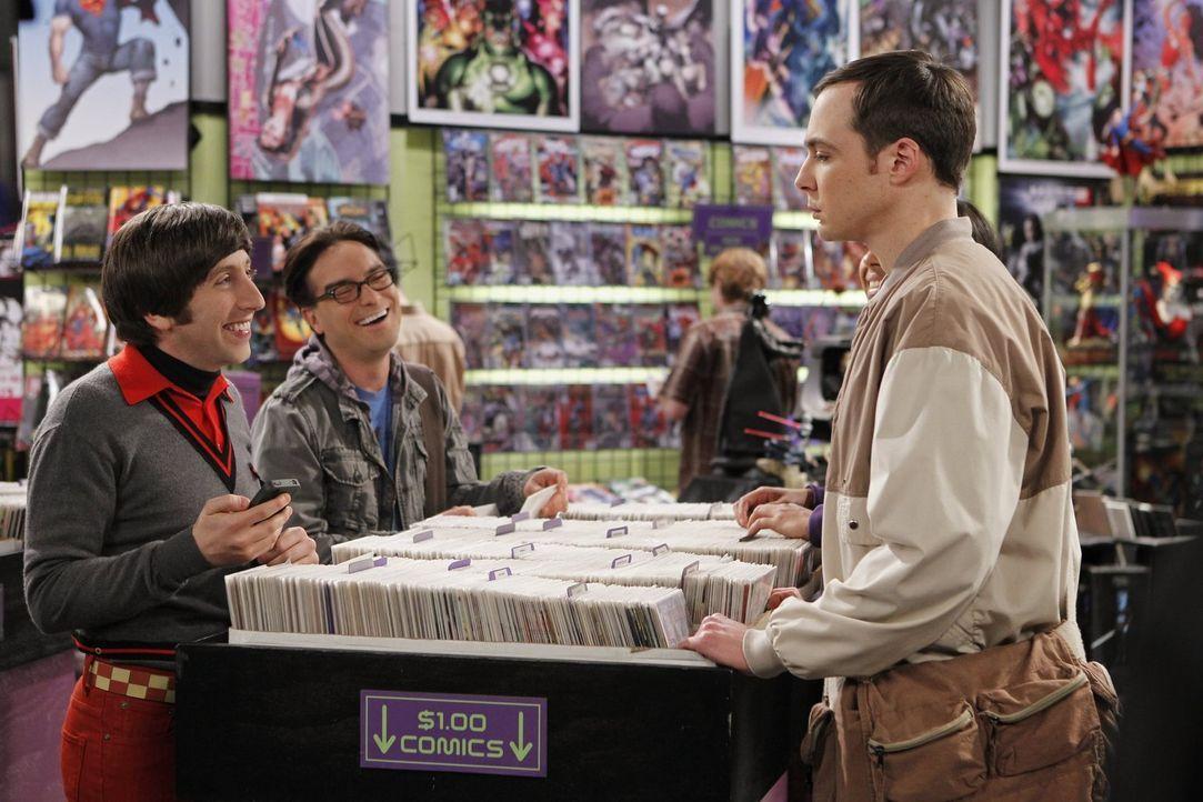 Raj hat eine gute Idee: Er möchte mit Sheldon (Jim Parsons, r.), Leonard (Johnny Galecki, M.) und Howard (Simon Helberg, l.) wie früher ein Wochenen... - Bildquelle: Warner Bros. Television