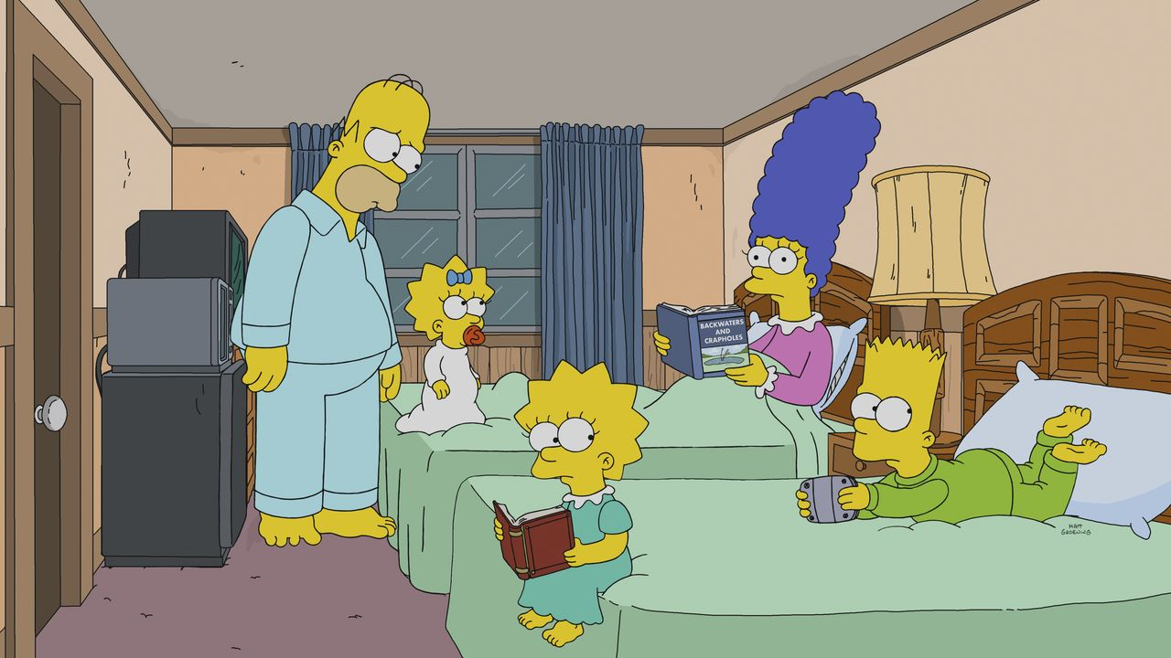 (v.l.n.r.) Homer; Maggie; Lisa; Bart; Marge - Bildquelle: 2018-2019 Fox and its related entities. All rights reserved.