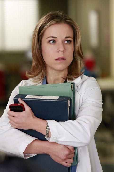 Kann nicht glauben, dass sie von Meredith gezwungen wird, Telefondienst zu machen: Heather (Tina Majorino) ... - Bildquelle: ABC Studios