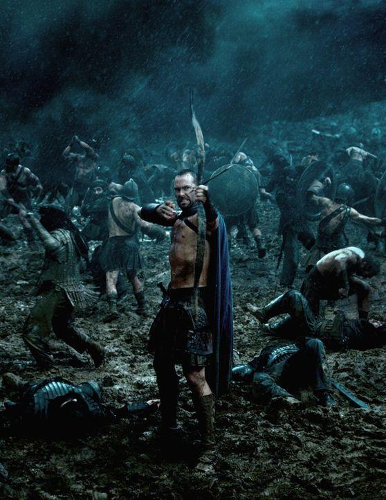 Um für den Kampf gegen die Perser gewappnet zu sein, bittet der General der Athener, Themistokles (Sullivan Stapleton), König Leonidas um Hilfe, doc... - Bildquelle: 2014 Warner Bros. Entertainment, Inc.