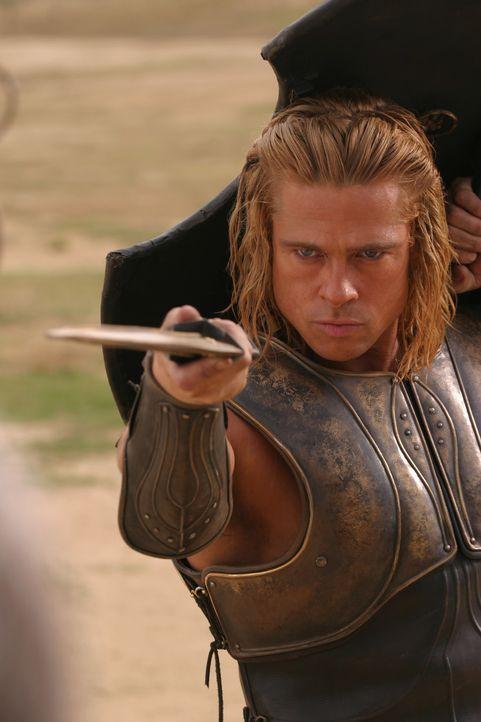 Allein sein Name treibt seinen Feinden bereits den Angstschweiß auf die Stirn: Halbgott Achilles (Brad Pitt) ... - Bildquelle: Warner Brothers International Television