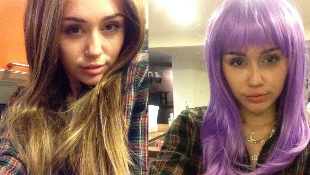 Miley Cyrus Kurz Vor Halloween Via Twitter Bunte Perucken Statt