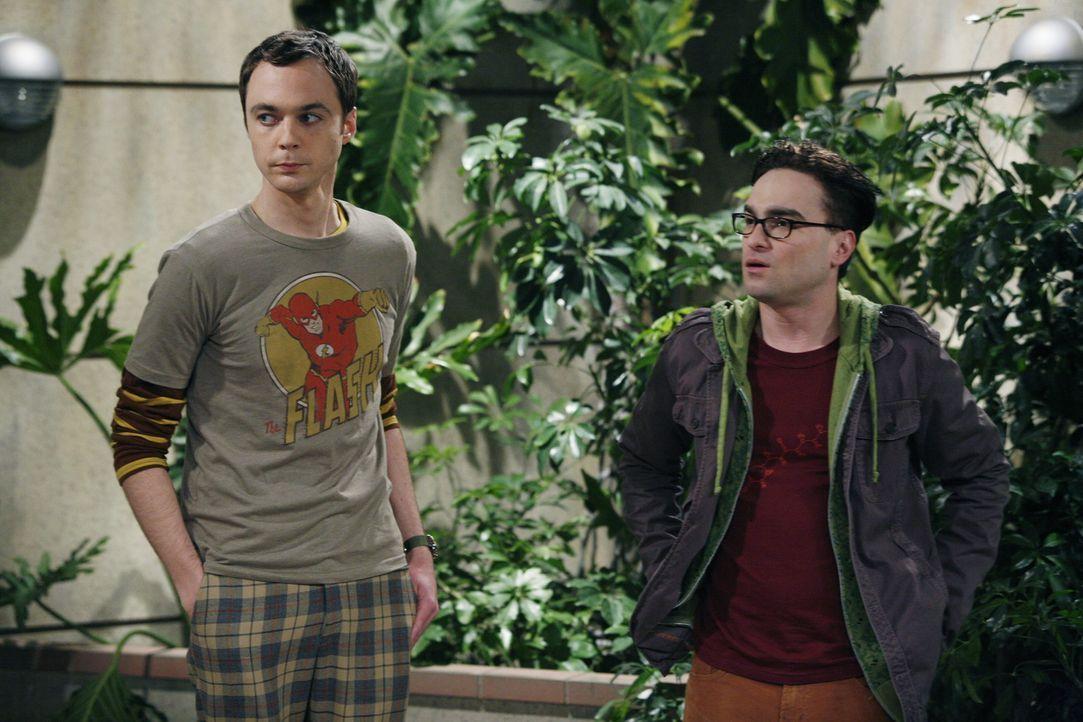 Die begnadeten Physiker Leonard (Johnny Galecki, r.) und Sheldon (Jim Parsons, l.), die sich eine Wohnung teilen, bewegen sich so sehr in der Welt d... - Bildquelle: Warner Bros. Television