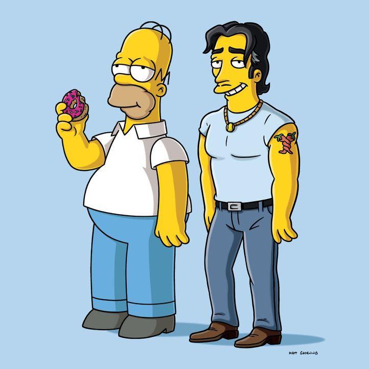 """Erleiden beide das gleiche Schicksal: Homer (l.) und Ricardo """"La Bomba"""" (r.) ... - Bildquelle: und TM Twentieth Century Fox Film Corporation - Alle Rechte vorbehalten"""