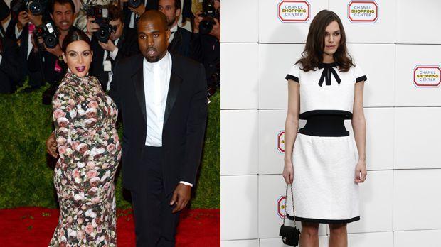 Kim-Kardashian-Kayne-West-13-05-06-Keira-Knightley-14-03-04-dpa-AFP - Bildquelle: dpa/AFP