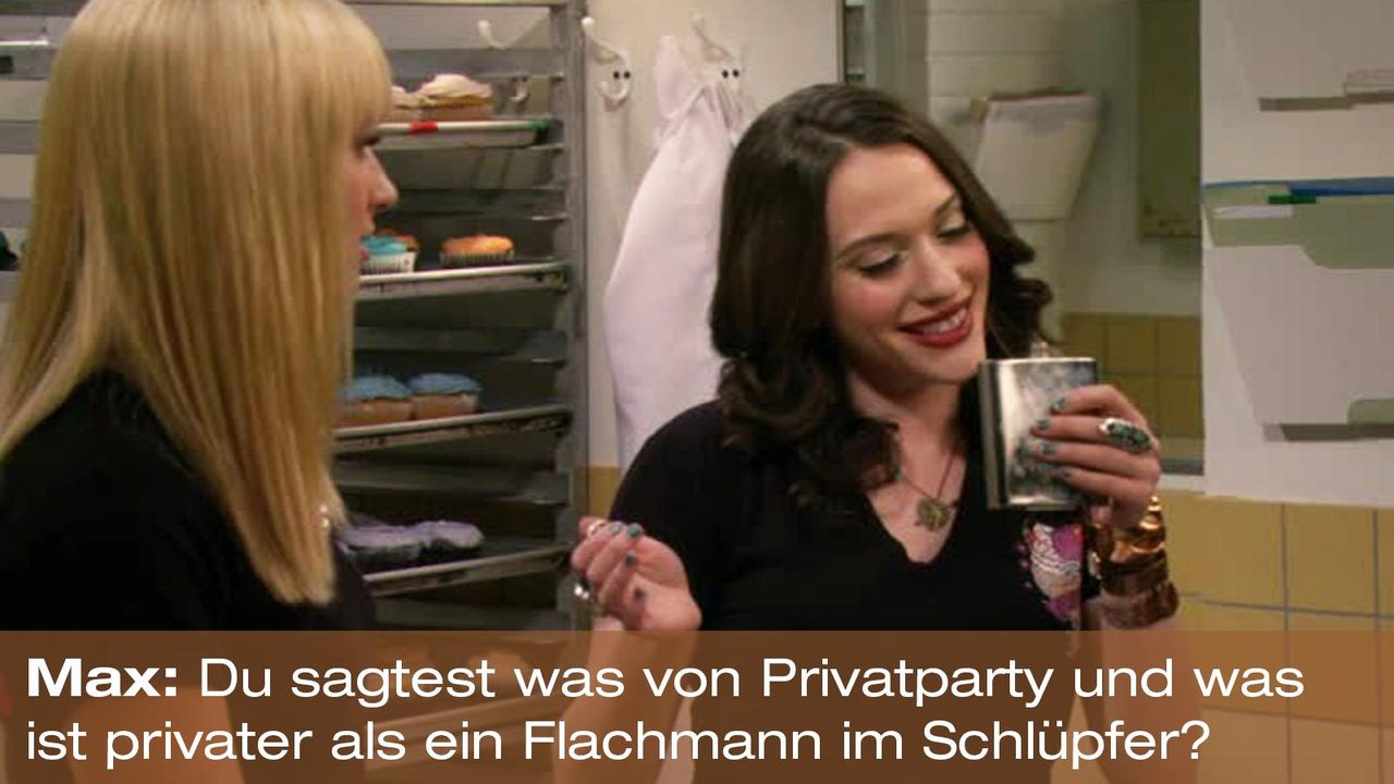 2-broke-girls-zitat-quote-staffel2-episode12-breite-weihnachten-max-privatparty-warnerpng 1600 x 900 - Bildquelle: Warner Bros. International Television