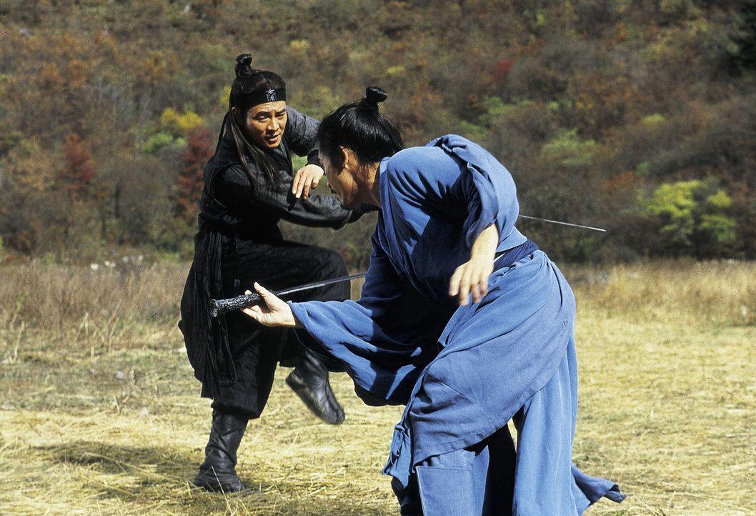 Der König von Qin ist überzeugt, das der namenlose Kämpfer (Jet Li, l.) lügt. Seine Kämpfe mit haben so nie stattgefunden und seine drei furcht... - Bildquelle: Constantin Film