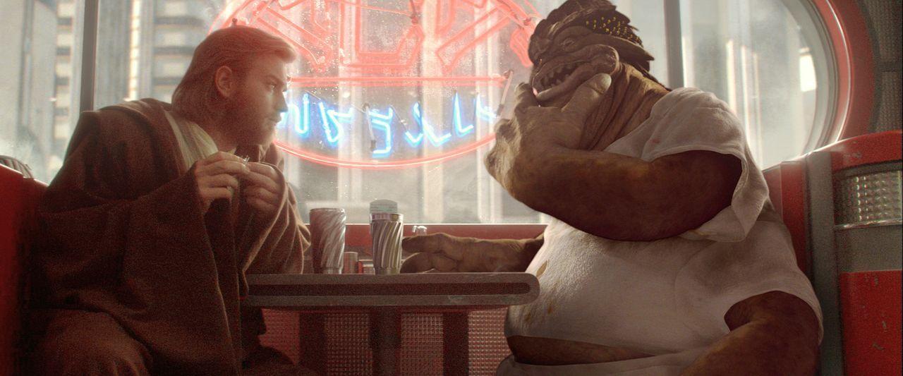 Als Separatisten einen Ansachlag auf das Leben der Senatorin Padmé Amidala verüben, wird Jedi-Ritter Obi-Wan Kenobi (Ewan McGregor, l.) gebeten, d... - Bildquelle: Lucasfilm Ltd. & TM. All Rights Reserved.
