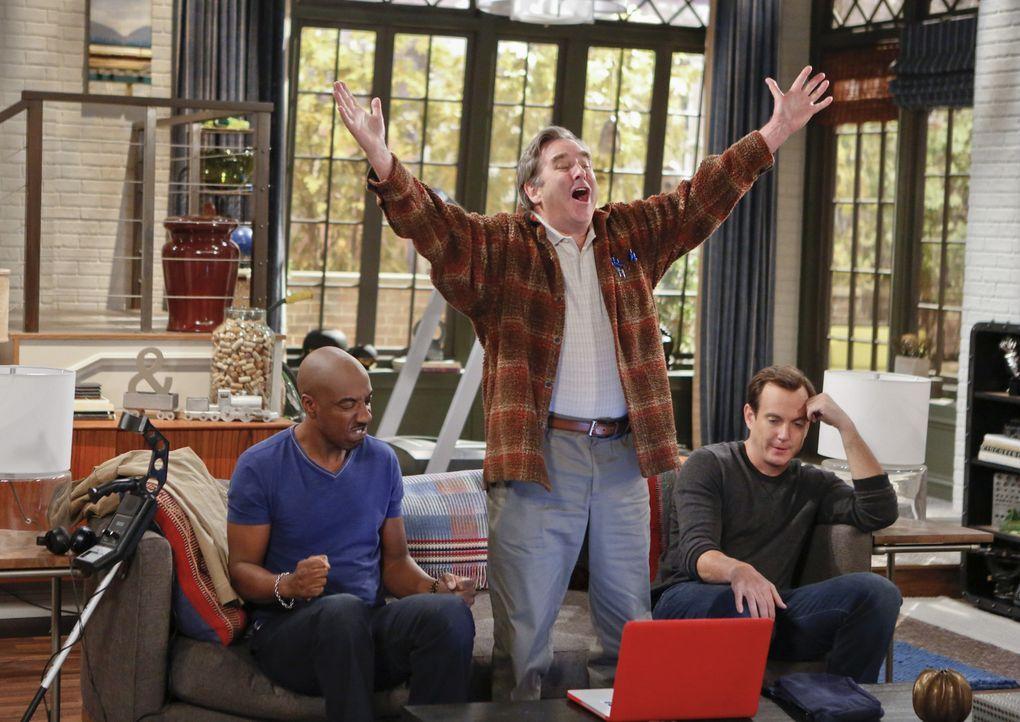 Ein Männerwochenende der besonderen Art: Ray (J.B. Smoove, l.), Tom (Beau Bridges, M.) und Nathan (Will Arnett, r.) ... - Bildquelle: 2013 CBS Broadcasting, Inc. All Rights Reserved.