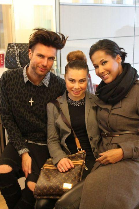 Vom Ghetto zum Glamour: Marie Amiere (r.) mit Stylist André Borchers (l.) und Vanessa (M.) ... - Bildquelle: ProSieben