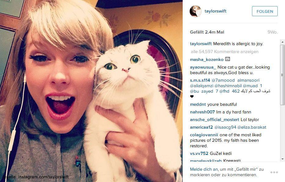 Beliebteste-Instagram-Bilder-2015-taylorswift-1 - Bildquelle: instagram.com/taylorswift