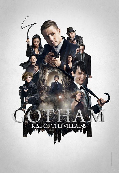 (2. Staffel) - Gotham: (vorne l. im Uhrzeigersinn) Selina (Camren Bicondova), Alfred (Sean Pertwee), Theo (James Frain) und Tabitha Galavan (Jessica... - Bildquelle: Warner Brothers