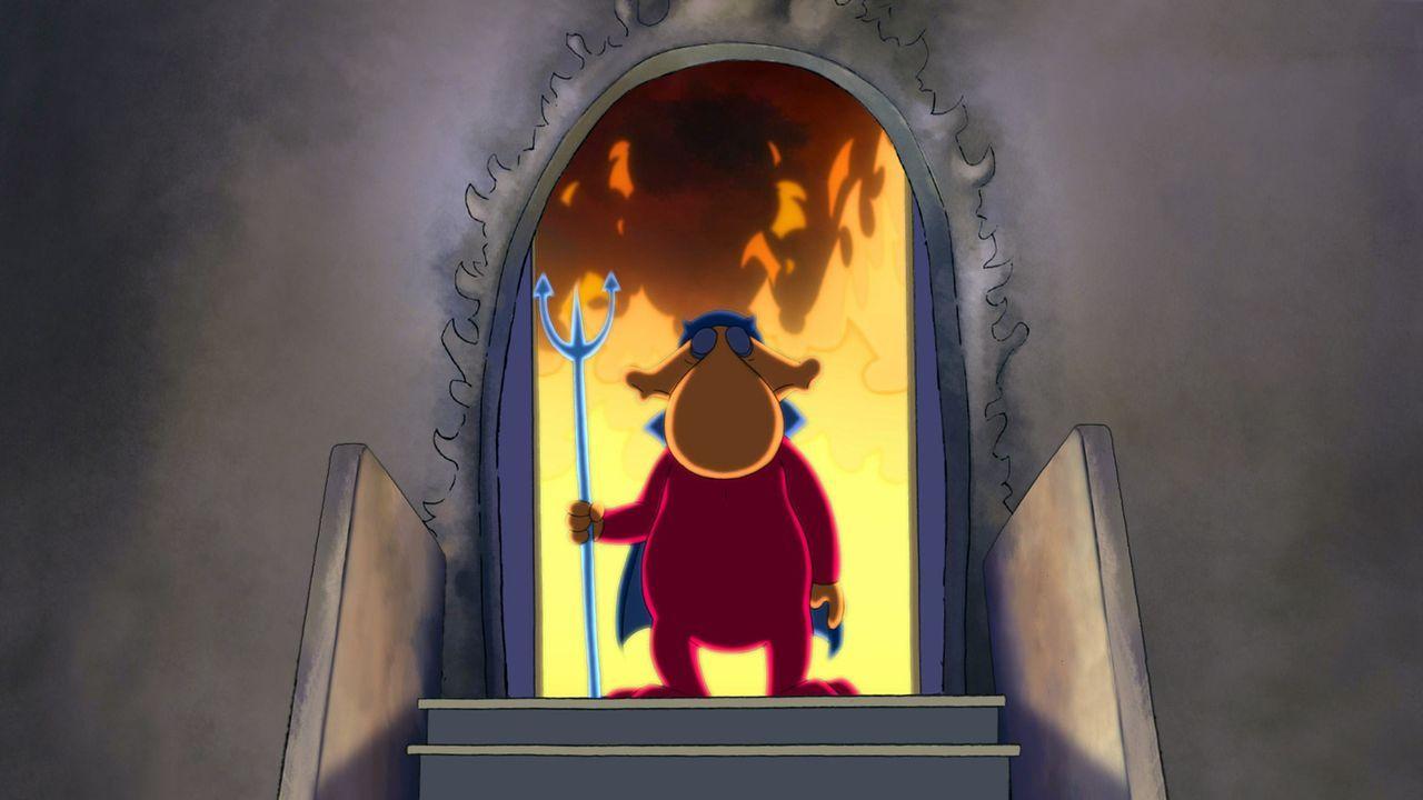 Auf dem Weg nach unten: Satan begrüßt Neuankömmling alter Sack an der Pforte zur Hölle ... - Bildquelle: 2006 Senator Film