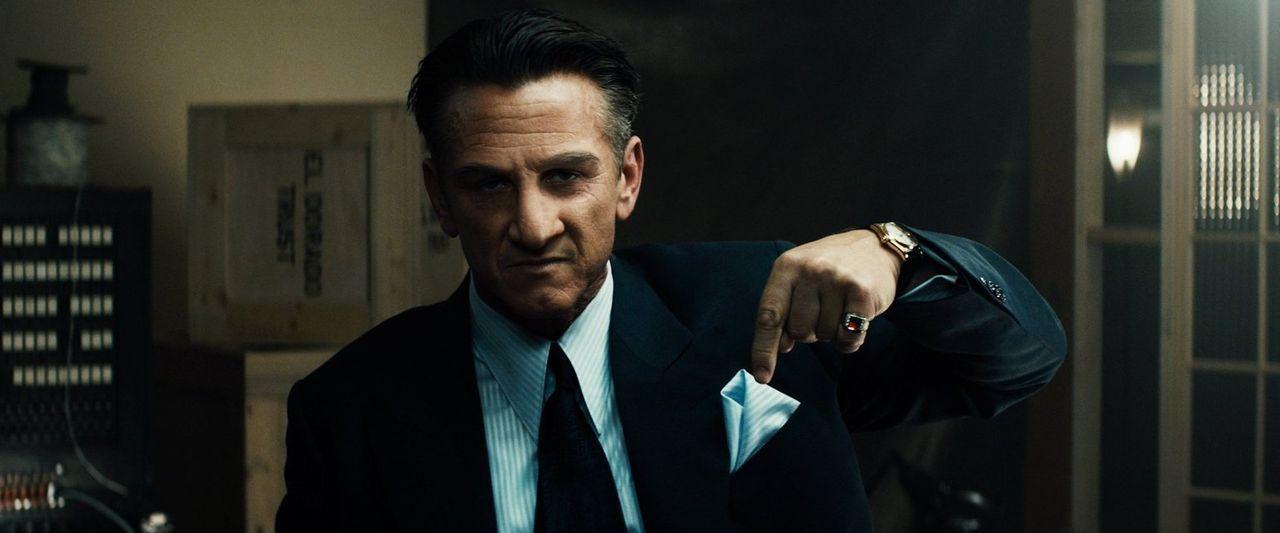 Los Angeles, 1949: Ex-Boxmeister Mickey Cohen (Sean Penn) beherrscht brutal das Drogen- und Prostitutionsgeschäft der Stadt. Polizeichef William Par... - Bildquelle: Warner Brothers
