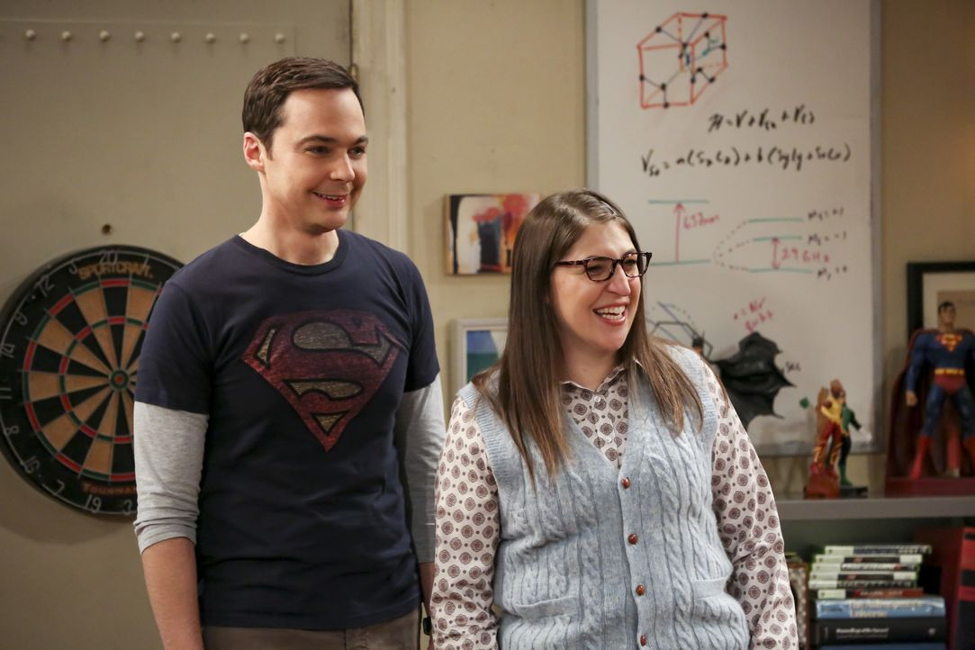 Sheldon Cooper (Jim Parsons, l.); Amy Farrah Fowler (Mayim Bialik, r.) - Bildquelle: Michael Yarish 2018 WBEI. All rights reserved. / Michael Yarish