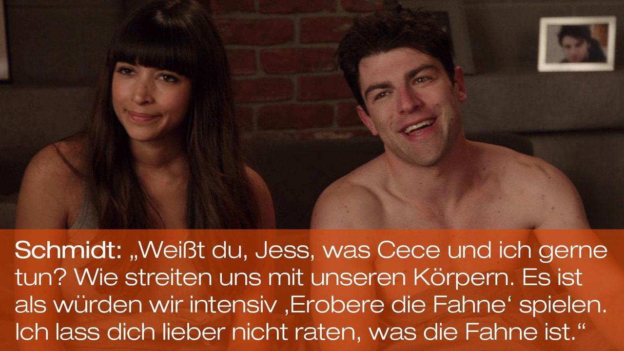 New Girl - Zitate - Staffel 1 Folge 20 - Cece (Hannah Simone), Schmidt (Max Greenfield) 1600 x 900 - Bildquelle: 20th Century Fox