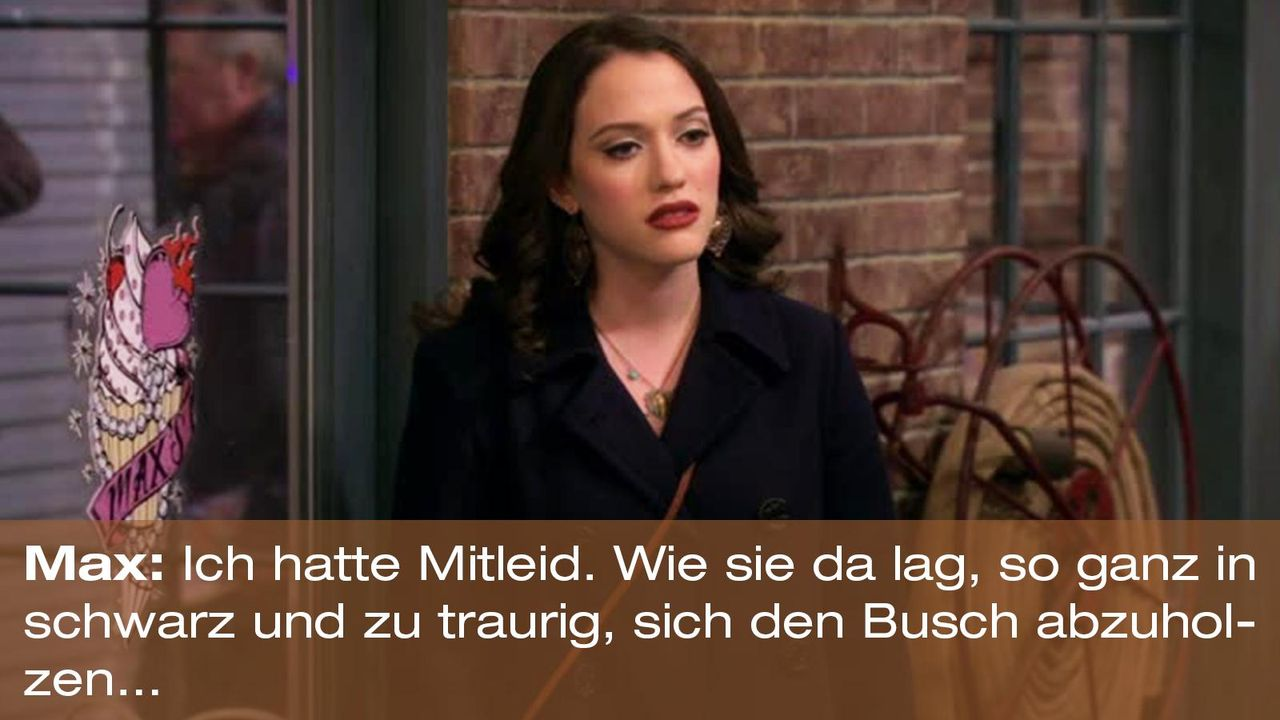 2-broke-girls-zitat-quote-staffel2-episode11-geschaeftspartnerin-max-mitleid-warnerpng 1600 x 900 - Bildquelle: Warner Bros. International Television