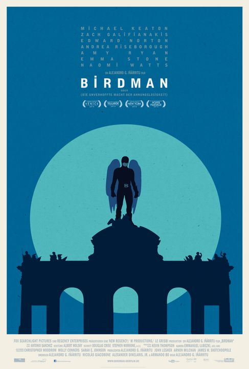 Birdman-Plakat-Madrid-20th-Century-Fox - Bildquelle: TWENTIETH CENTURY FOX