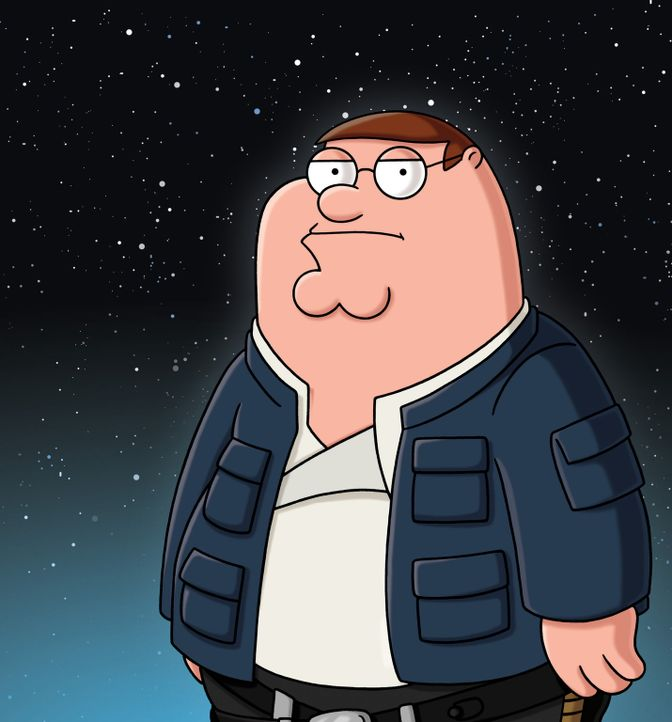 "Peter erzählt die Star Wars Saga ""Das Imperium schlägt zurück"" à la Family Guy: Peter als Han Solo - Bildquelle: 2007-2008 Twentieth Century Fox Film Corporation. All rights reserved."