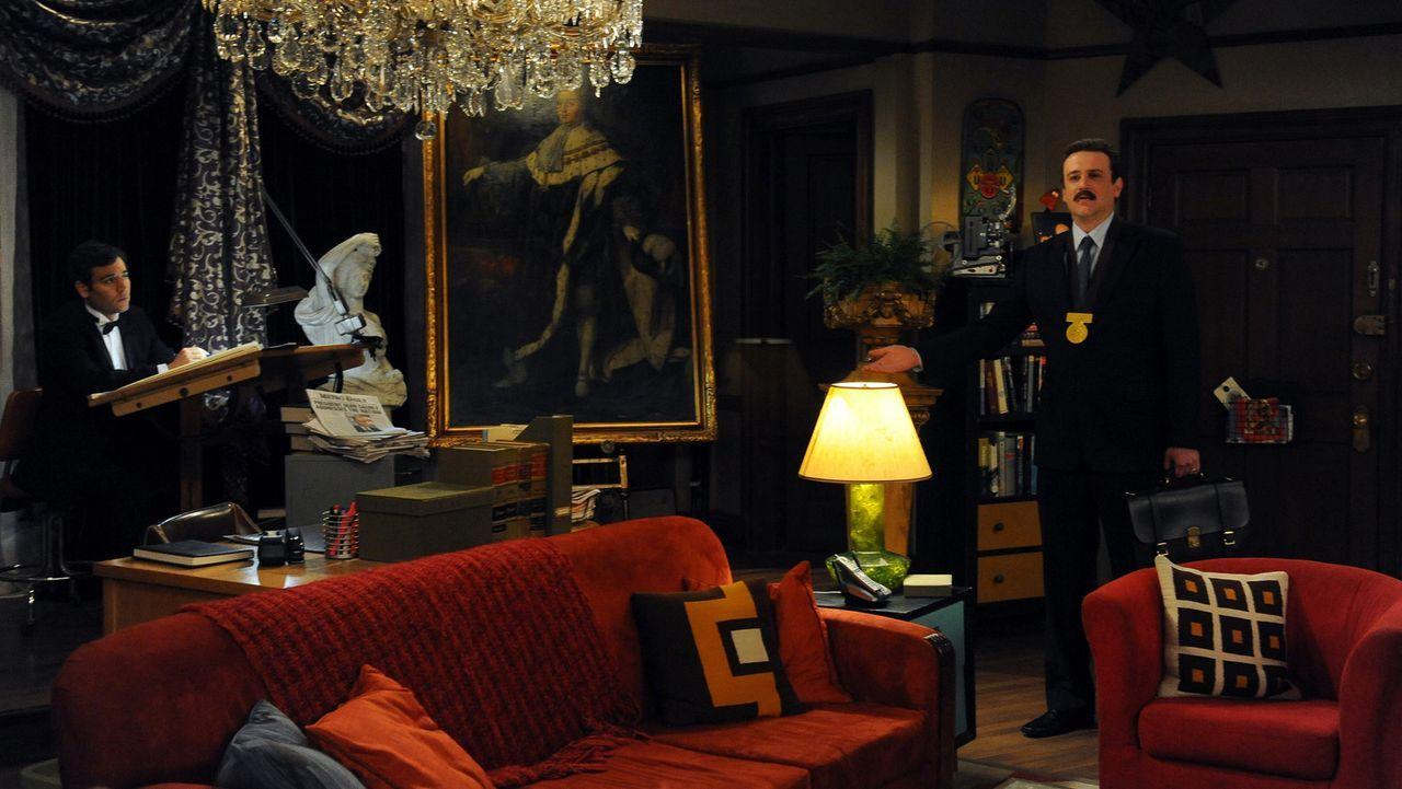 Das Jahr 2006 in der Vorstellung der Freunde: Ted (Josh Radnor, l.) und Marshall (Jason Segel, r.) ... - Bildquelle: 20th Century Fox International Television