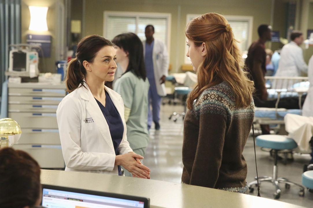 Amelia (Caterina Scorsone, l.) trifft auf eine alte Bekannte (Jessica Gardner, r.), die pikante Details über die Vergangenheit der Ärztin ausplauder... - Bildquelle: ABC Studios