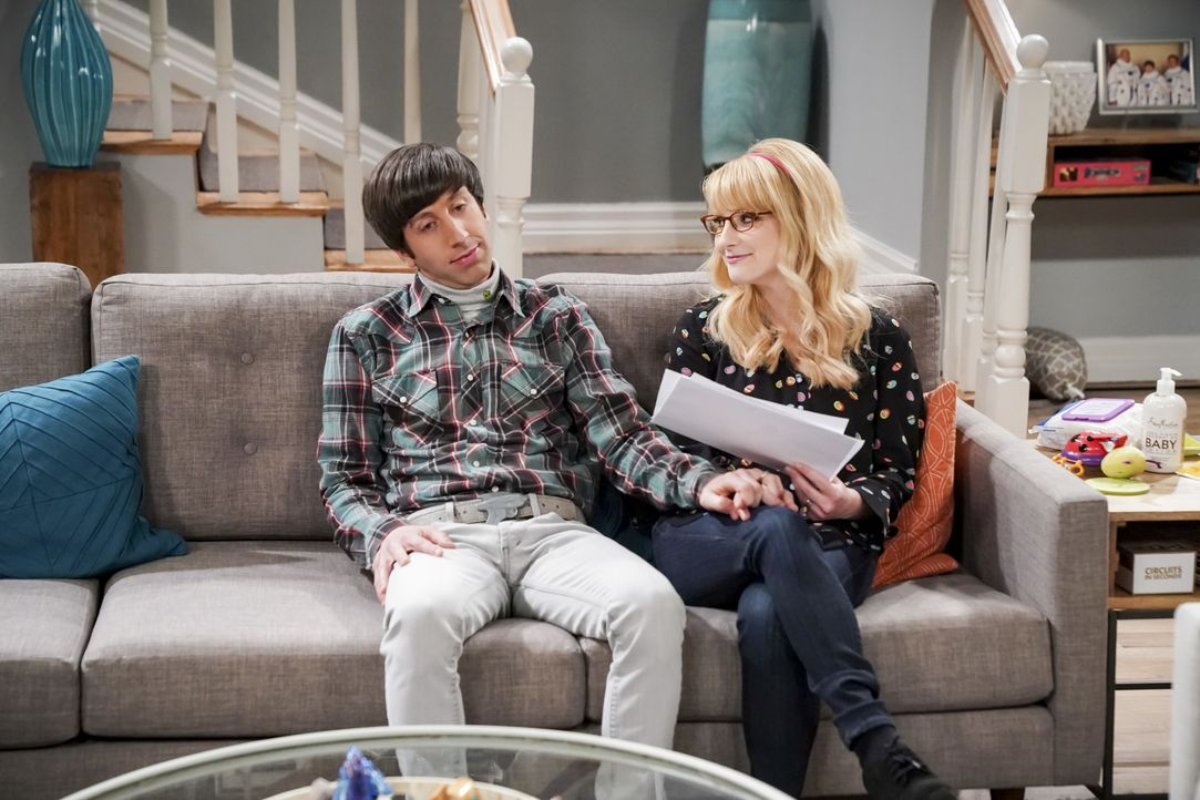 Howard Wolowitz (Simon Helberg, l.); Bernadette (Melissa Rauch, r.) - Bildquelle: Sonja Flemming 2019 CBS Broadcasting, Inc. All Rights Reserved / Sonja Flemming