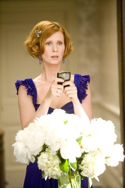 Warum erscheint Mr. Big nicht zu seiner eigenen Hochzeit? Miranda (Cynthia Nixon) schwant Übles ... - Bildquelle: Warner Brothers