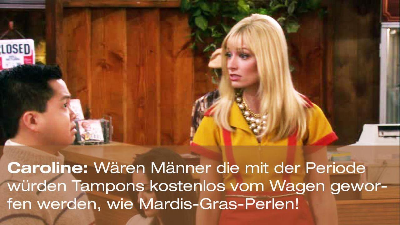 2-broke-girls-zitate-staffel1-episode-13-geheime-zutat-caroline-mardis-gras-warnerpng 1600 x 900 - Bildquelle: Warner Brothers Entertainment Inc.