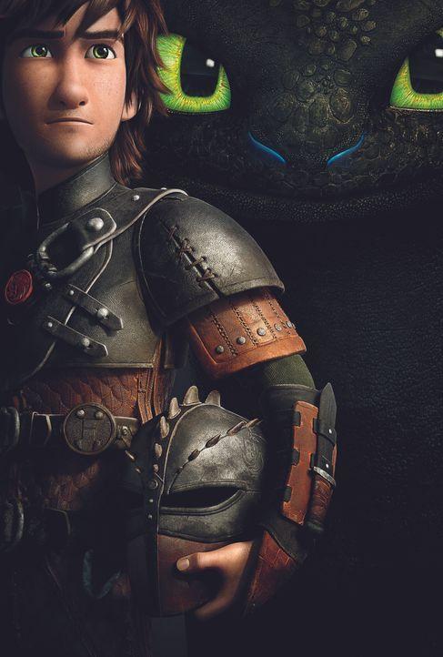 DRACHENZÄHMEN LEICHT GEMACHT 2 - Artwork - Hicks (l.) liebt es, mit seinem Drachen Ohnezahn (r.) die große weite Welt zu erforschen. Doch als der Wi... - Bildquelle: 2014 DreamWorks Animation, L.L.C.  All rights reserved.