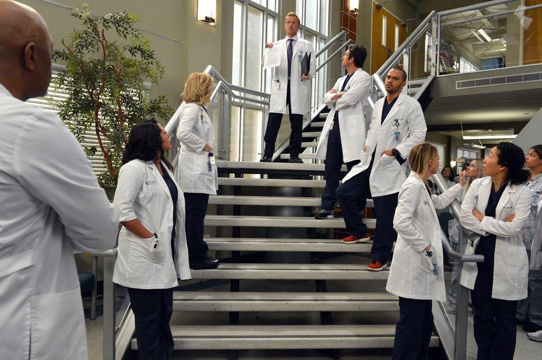 Die Mitarbeiter des Grey Sloan Memorial Hospital sollen künftig keine Beziehungen mehr mit Kollegen haben - Vorgesetzten und Untergebenen ist es sog... - Bildquelle: ABC Studios