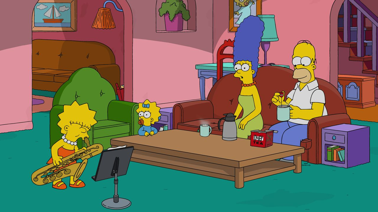 (v.l.n.r.) Lisa; Maggie; Marge; Homer - Bildquelle: 2020 by Twentieth Century Fox Film Corporation.