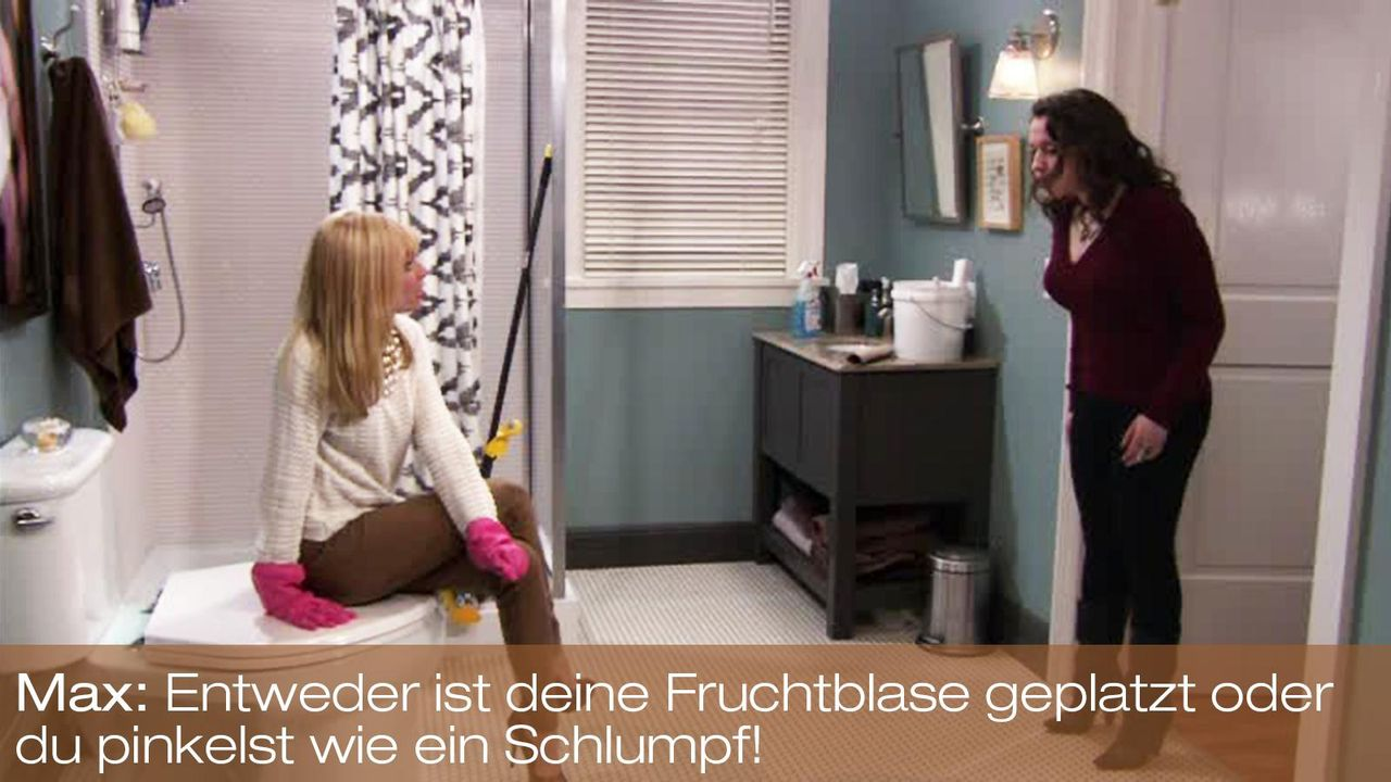 2-broke-girls-zitat-episode-15-staffel-1-blinde-fleck-max-kat-dennings-pinkelst-schlumpf-bild-warnerpng 1600 x 900 - Bildquelle: Warner Brothers Entertainment Inc.