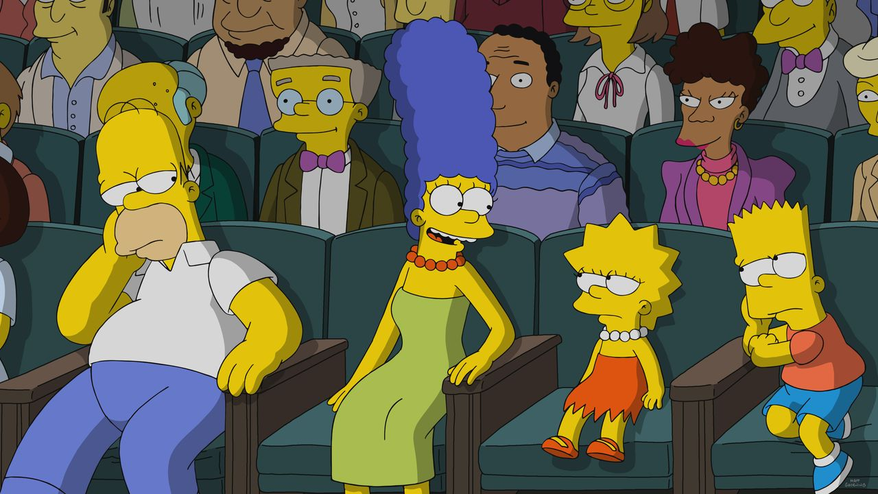 (v.l.n.r.) Homer; Marge; Lisa; Bart - Bildquelle: 2020 by Twentieth Century Fox Film Corporation.