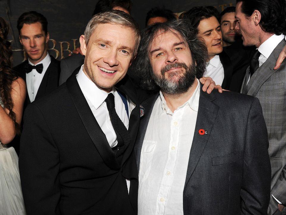 The-Hobbit-Premiere-LA-Martin-Freeman-Peter-Jackson-131202-getty-AFP - Bildquelle: getty-AFP