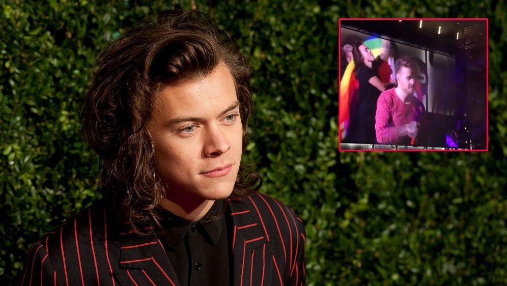 One Direction Star Harry Styles Schwulen Outing Bei Konzert