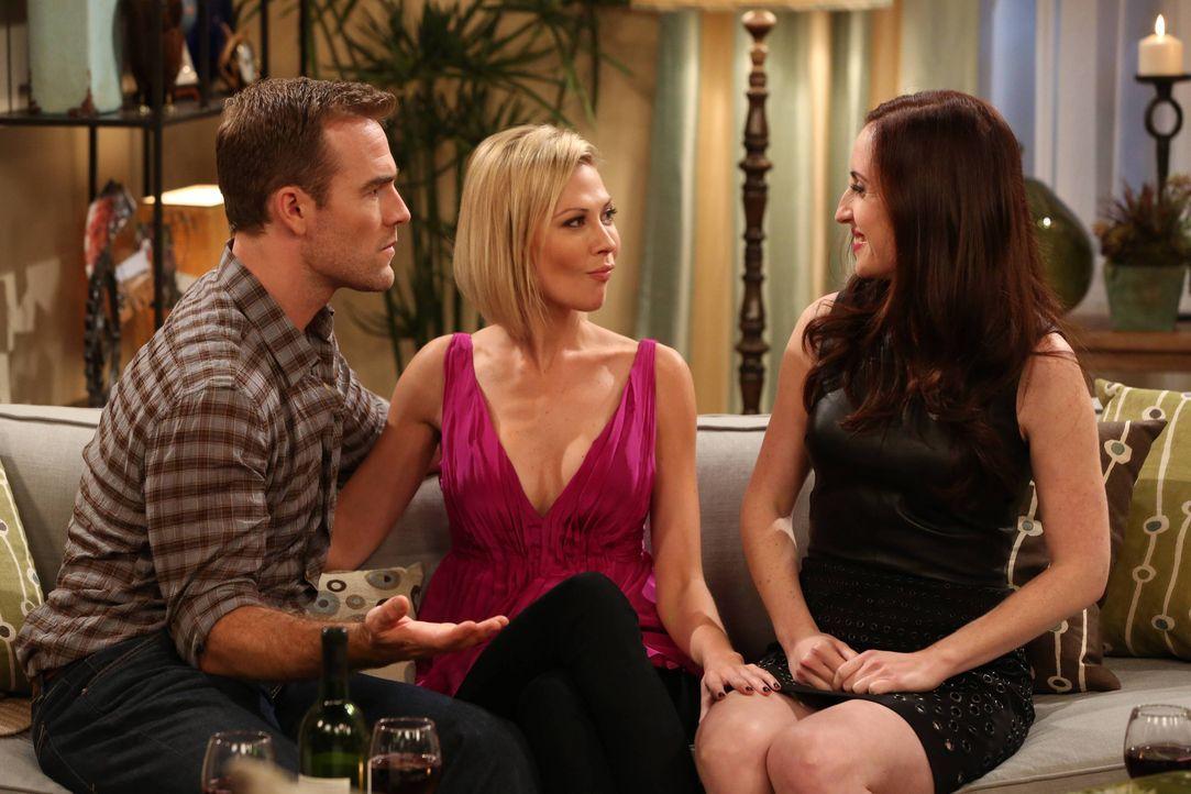 Für Will (James Van Der Beek, l.) und auch Kate (Zoe Lister-Jones, r.) verläuft der Abend ganz anders als erwartet, als beide auf Jess (Desi Lydic,... - Bildquelle: 2013 CBS Broadcasting, Inc. All Rights Reserved.