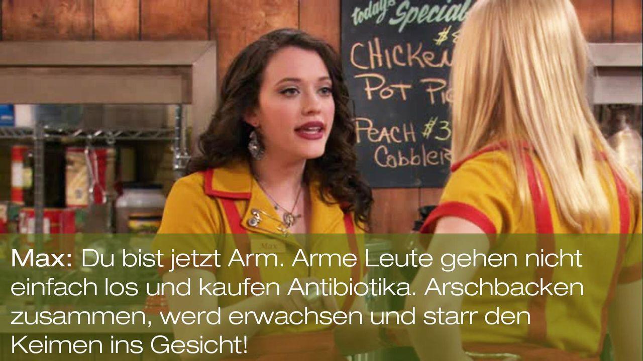 zitat-quote-spruch-2-broke-girls-episode-17-ehrenjuedin-max-black-kat-dennings-arschbacken-warnerpng 1600 x 900 - Bildquelle: Warner Brothers Entertainment Inc.