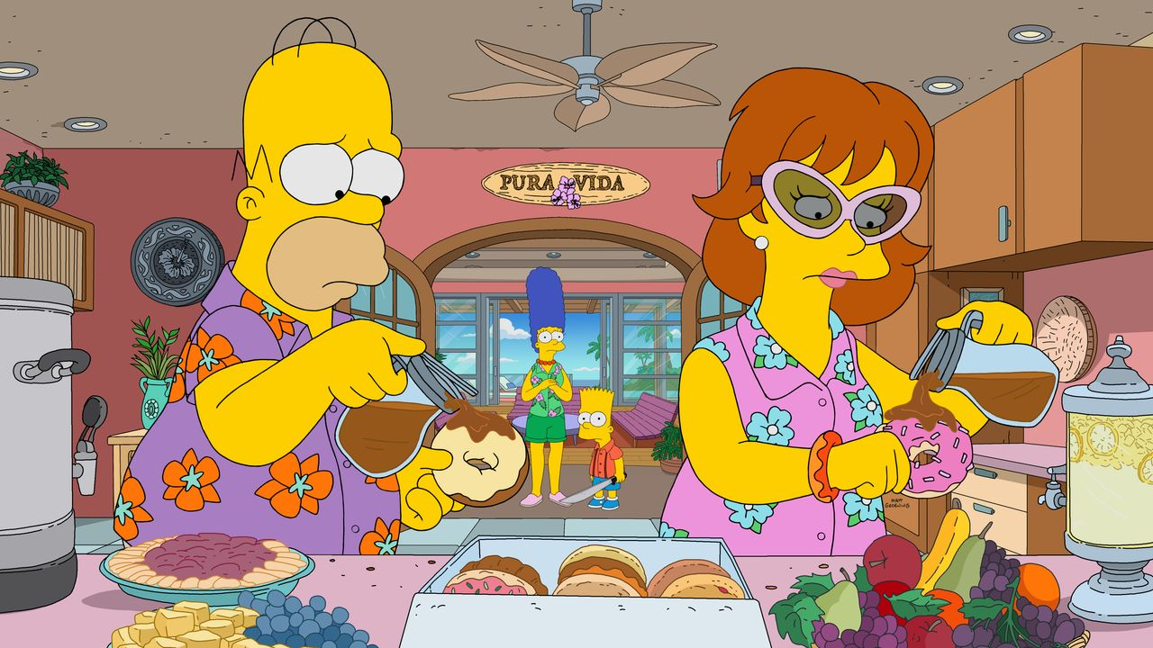 (v.l.n.r.) Homer; Marge; Bart; Evelyn - Bildquelle: 2019-2020 Twentieth Century Fox Film Corporation.  All rights reserved.
