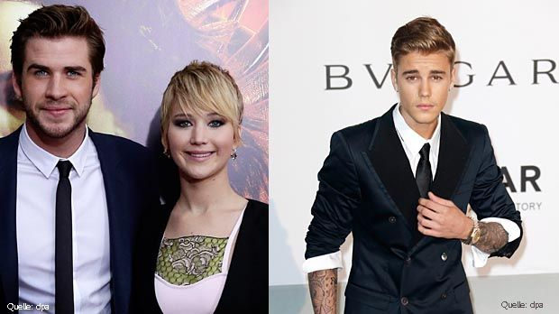 Liam- Hemsworth-Top-dpa-Justin-Bieber-Flop-dpa - Bildquelle: dpa