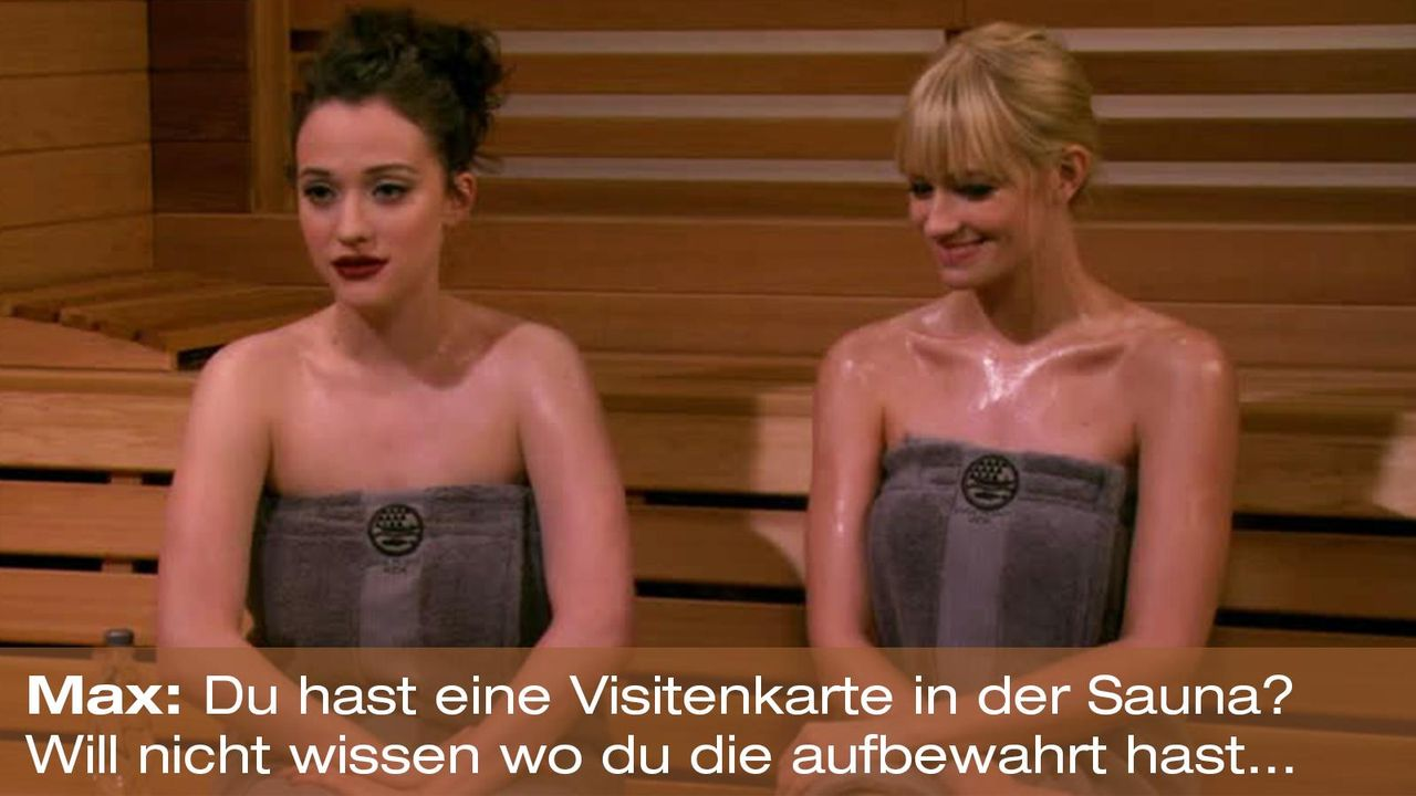 2-broke-girls-zitat-quote-staffel2-episode13-wochenende-max-visitenkarte-warnerpng 1600 x 900 - Bildquelle: Warner Bros. Television