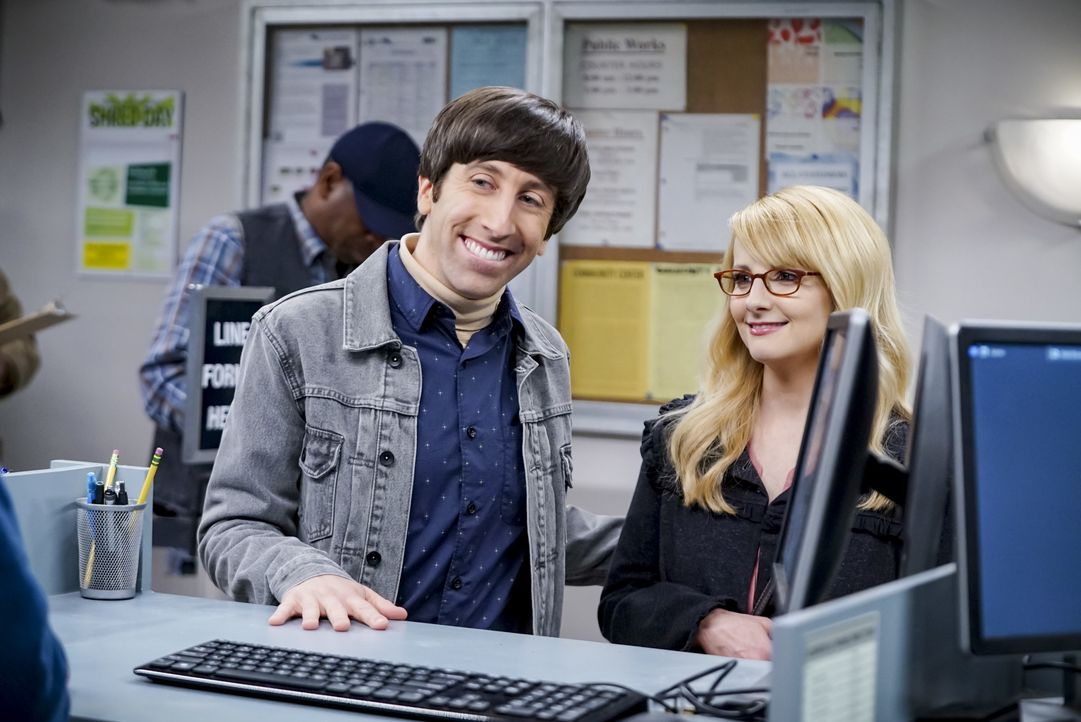 Howard Wolowitz (Simon Helberg, l.); Berndette Rostenkowski (Melissa Rauch, r.) - Bildquelle: Sonja Flemming 2019 CBS Broadcasting, Inc. All Rights Reserved / Sonja Flemming